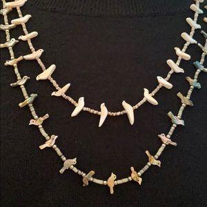 2 Authentic Zuni🕊Bird Fetish Necklaces
